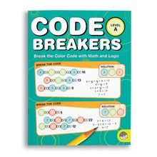 Code Breakers: Level A color represents a different number in a group of equations; find the value of the colors and you've solved the puzzle! As they have fun breaking the code for each puzzle, kids will build logic and math skills that make algebra and advanced math easier down the road. 150 puzzles. Reproducible.
