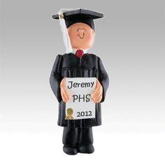 Graduation Ornaments | Personalized Male Graduate Ornament