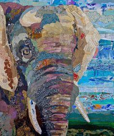Mixed media elephant