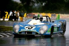 1972 24 Hours LeMans, Graham Hill in Matra MS670 on his way to take the victory!
