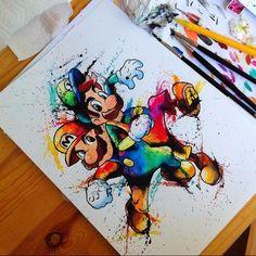 Les illustrations Pop colorées d'Ellen Hollmes - Mario #02