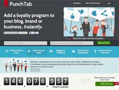 PUNCHTAB: Add a fun loyalty program to your blog, brand or business. Instantly and at Zero-cost.