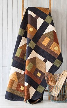 """Fons & Porter- """"Cabins at the Lake"""" quilt project"""