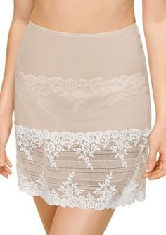 Wacoal Women's Embrace Lace Half Slip - 813291 - Naturally Nude/Ivory - M