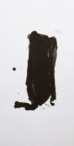 Robert Motherwell, Brushstroke (1980) Lithograph on paper © Dedalus Foundation, Inc/VAGA, New York and DACS, London 2002