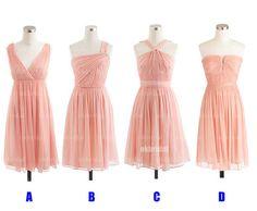 vestidos de Dama de honor barato, vestidos de Dama de melocotón, vestidos de Dama de honor, vestidos para fiesta de graduación, corta de Dama de honor vestidos de RE405