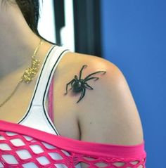 Tattoo walking spider from Barry Crake
