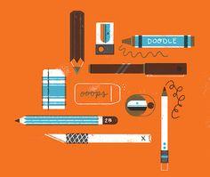 Tools of the Trade - Lydia Nichols Illustration + Design + Anthropomorphizing Flat Design Illustration, Creative Illustration, Retro Design, Graphic Design, Surface Design, Graphic Prints, Diy Art, Vector Art, Childrens Books