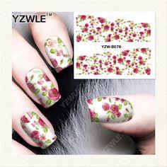 YZWLE  1 Sheet DIY Designer Water Transfer Nails Art Sticker / Nail Water Decals / Nail Stickers Accessories (YZW-8076)