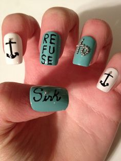 Refuse to sink Acrylic Nails by CoccoNails on Etsy, $10.00