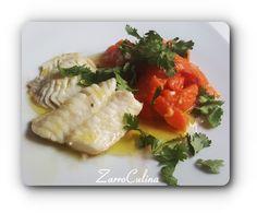 Thailändischer Papayasalat mit Rotbarschfilets ♡ Exotisch scharf und mild zugleich mit feinen Fischfilets