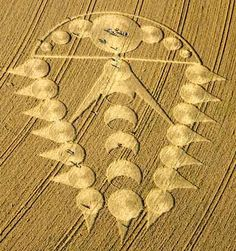 Crop Circles - Ogbourne St Andrew, nr Marlborough, Wiltshire, England. Reported July 29, 2009,