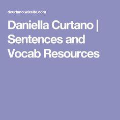 Daniella Curtano | Sentences and Vocab Resources
