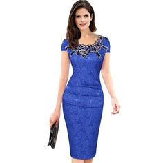6a8682dc7 Women Elegant Crochet Lace Embroidery Flower Casual Party Evening Moth –  geekbuyig