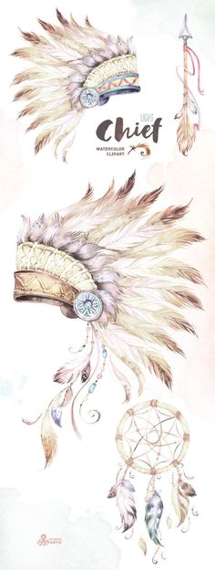 Chief Light. Native Warbonnets Dreamcatcher and por OctopusArtis