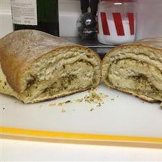 French Herb Bread - one of the best bread recipes I've tried  :)  Follow the instructions, let it rise sufficiently and make sure the internal temperature of the bread is at least 190*F before removing from the oven.  YUM