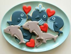 Whale and Dolphin Cookies