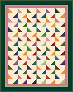 Flags Quilt Pattern BS2-312e (instant download)