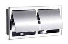 ESSENTIALS : 030447 - Built-in toilet paper dispenser / chrome / commercial by Aliseo Toilet Paper Dispenser, Bathroom Inspiration, Chrome, Commercial, Essentials, Kitchen Appliances, Building, Diy Kitchen Appliances, Home Appliances