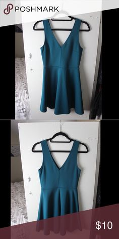 Dark Teal Forever 21 Skater Dress Dark Teal Forever 21 Skater Dress. Front and back seam. Worn just a few times, good condition. Forever 21 Dresses Mini