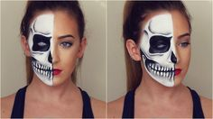 I hope you guys enjoy this half skull halloween makeup tutorial!! If you do re-create this look then PLEASE send me a picture through one of my social media ...