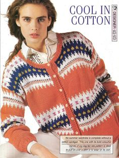 Knitting pattern  Woman's Cool in Cotton by MyPatternsCollection