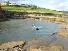 Paddling Pool Roome Bay Beach which is only two minutes walk from Sandcastle Cottage