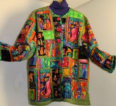 Colorful quilt jacket