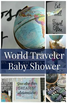 World Traveler Baby Shower - Baby Showers to Newborn - .-Weltreisender-Babyparty – Baby Showers to Newborn – World Traveler Baby Shower – Baby Showers to Newborn – Traveler Baby Shower - Baby Shower Prizes, Baby Shower Fun, Baby Boy Shower, Baby Shower Gifts, Shower Games, Baby Boys, Party Girlande, Baby Shower Themes Neutral, Gender Neutral