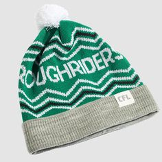 CFL Saskatchewan Roughriders Toque. Dress in style this winter with the Roughriders toque. Whether you're just walking through the streets of Regina or in the stands at Mosaic Stadium, make sure you #RepYourHood with this limited edition toque.  An official Tuck Shop and CFL collaboration.  Proudly Made in Canada. Saskatchewan Roughriders, Collaboration, Mosaic, Walking, Canada, Knitting, Winter, How To Make, Dress