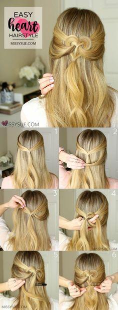 Een leuk hartje in je haar, hoe tof! Het is makkelijk te maken en ziet er super schattig uit!