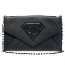 DC COMICS SUPERMAN LOGO SYMBOL ENVELOPE WALLET WITH CHAIN HAND BAG CLUTCH PURSE