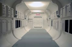 This is a spaceship, but I was picturing this is as a corporate hallway to the CEOs office...the lone walk that a renegade will do confidently.