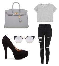 """"""""""" by dotjewillems on Polyvore featuring mode, Forever 21, Monki, Topshop, Hermès, women's clothing, women, female, woman en misses"""