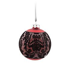The Haunted Mansion Glass Ball Ornament - Red