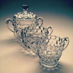 Fostoria Glassware, Sugar Bowl, Bowl Set, Dishes, Tablewares, Dish, Signs, Dinnerware
