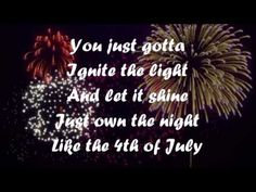 Katy Perry - Firework Lyrics - I never listen to Katy Perry, and I'm not a fan of hers in the slightest, but I do like this song.