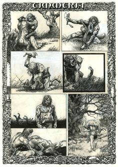 ungoliantschilde:  Cimmeria, pages 1-5, by Barry Windsor Smith....