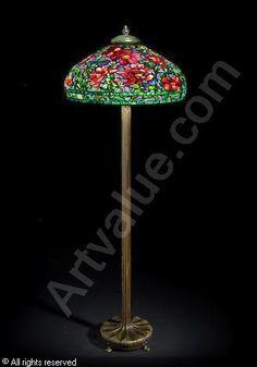 TIFFANY Louis Comfort - Peony Floor Lamp
