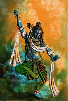 In this illustration, I have tried depicting Shiva dancing for Parvati. The illustration was inspired from The Immortals of Meluha, a book written by Amish. Shiva Tandav, Shiva Art, Shiva Statue, Krishna Art, Hindu Art, Rudra Shiva, Lord Krishna, Lord Shiva Sketch, Lord Shiva Pics
