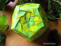 Origami ❀ Aquarella ❀ Kusudama origami tutorial, kusudama aquarella instructions