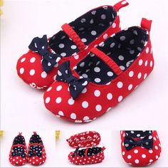20661be157da Newborn Fashion Spring Autumn Summer Kid Casual Baby Girl Dot Bow Cute  Princess Soft Sole Toddler