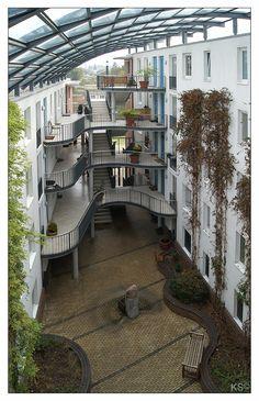 Durch Zufall entdeckte ich diese interessante Wohnanlage in Hamburg/Hamm-Süd. [fc-foto:22572497]