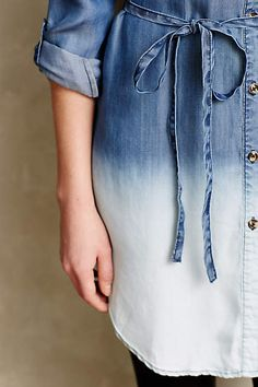 Dip-Dyed Chambray Tunic - anthropologie.com #anthropologie #AnthroFave