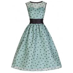 Little Wings Factory - Lindy Bop 'Cindy' Sage Polka Dress, £38.00 (http://www.littlewingsfactory.com/lindy-bop-cindy-sage-polka-dress/)