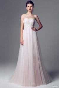 Pink wedding dress, a little different, but not still elegant and sophisticated and great for a destination beach wedding.  http://costaricaweddingdestinations.com/2014-wedding-dress-trends/