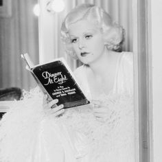 "Jean Harlow prepping for filming of  ""Dinner at Eight"", 1933"