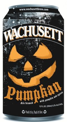 Wachusett Brewing Company Pumpkan Ale. Pumpkan is a session amber ale with a 5.2% ABV and 20 IBUs. Craft Beer. Halloween.