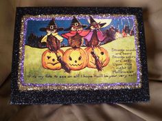 Three Halloween Owls Box « Halloween Artist Bazaar $42.00 Twilight Faerie