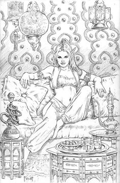What Would you Wish of Me? by Mitch Foust in pencils Comic Art